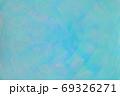 抽象的背景 青色・緑色系 渦のような 手描き 69326271