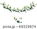リンゴの葉 69329874
