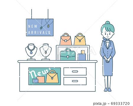ブランドショップで接客する女性スタッフ 69333720