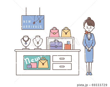 ブランドショップで接客する女性スタッフ 69333729