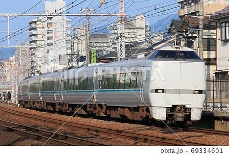 芦屋駅を通過した通勤特急「らくラクはりま」 69334601