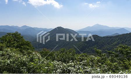 国見台からの高森山と磐梯山/磐梯吾妻スカイライン(福島県猪苗代町) 69349136