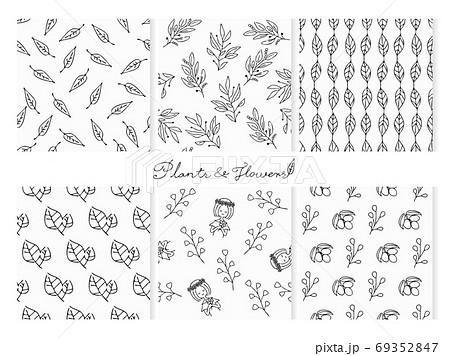 植物のシームレスパターンセット 69352847