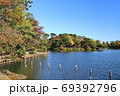 紅葉の洗足池 東京都大田区 69392796