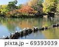 紅葉の洗足池 東京都大田区 69393039