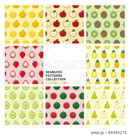 果物のシームレスパターンセット 69395273