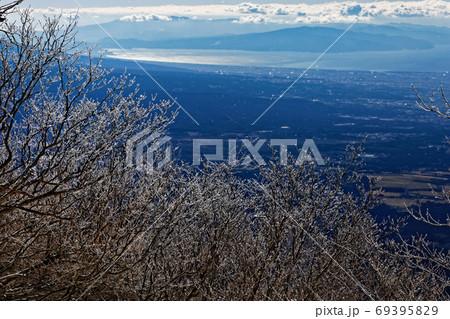 毛無山の霧氷と駿河湾・伊豆半島の眺め 69395829