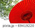 赤い和傘 69419220