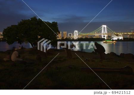 お台場夜景 お台場海浜公園からの眺め 69421512