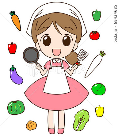 野菜と女の子 69424685