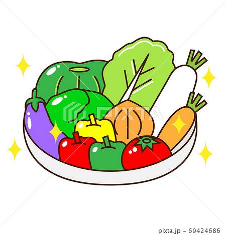 カゴに入った野菜 69424686