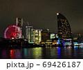 横浜夜景、大観覧車、インターコンチネンタルホテル、ビル群 69426187