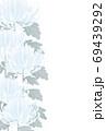 左半分菊の喪中はがきタテ 69439292