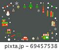 お洒落なヨーロッパ風クリスマスの街並みフレーム 69457538
