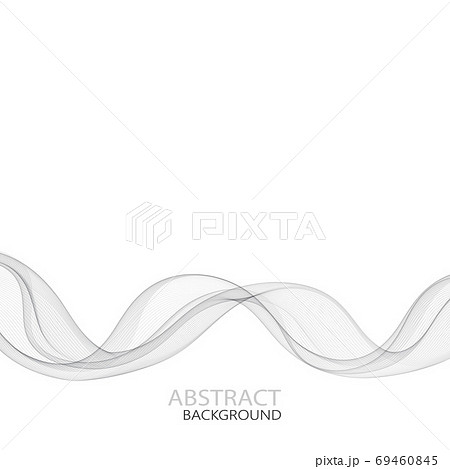 Elegant abstract smooth swoosh speed gray wave modern stream background. Vector illustration eps10 69460845