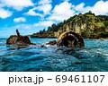 小笠原 父島の座礁船 濱江丸 69461107