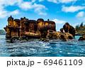 小笠原 父島の座礁船 濱江丸 69461109