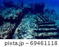 小笠原 父島の座礁船 濱江丸 69461118
