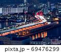 神戸市役所展望ロビーからの夜景(神戸大橋) 69476299