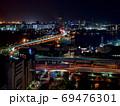 神戸市役所展望ロビーからの夜景(神戸大橋) 69476301