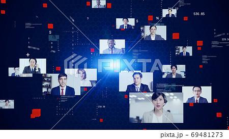 グローバルビジネス ビデオ会議 69481273