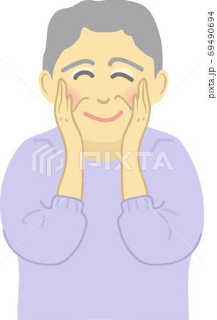笑顔のシニアの女性 69490694