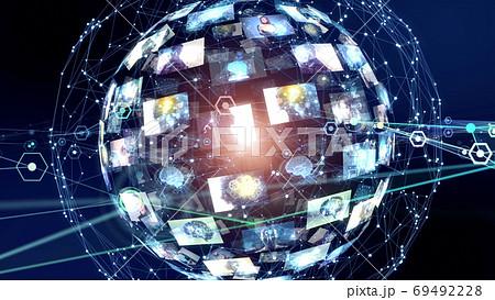 グローバルネットワーク  CGアニメーション 69492228