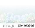 水彩風下半分菊の喪中はがきヨコベクター配置調整可 69495646