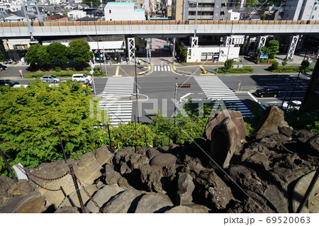9月 品川378品川神社の富士塚頂上・御殿山城南五山 69520063