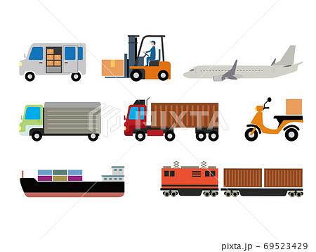 配送と物流イラストセット 69523429