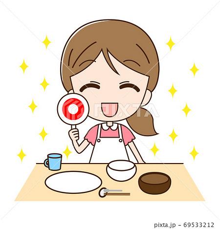きれいなお皿とマル 69533212
