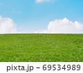 草原 芝生 青空 背景素材 69534989