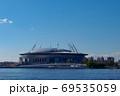 Krestovsky Stadium with blue sky in Saint Petersburg 69535059
