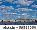 Hermitage Museum and blue sky with clouds 69535060