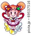 和テイストドレスの魔法使いの女の子 69537516