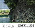 江戸城跡・清水濠に残る石垣 69551154