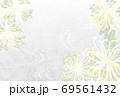 水彩風糸菊の喪中はがきヨコベクター配置調整可 69561432