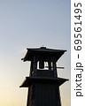 時の鐘 アップ 夕焼け 69561495