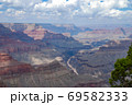 Grand canyon national park on a sunny day with clouds 69582333