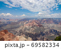 Grand canyon national park on a sunny day with clouds 69582334