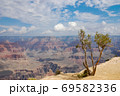 Grand canyon national park on a sunny day with clouds 69582336