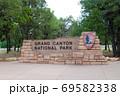 Grand Canyon National Park entrance sign with bricks 69582338