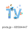 TV, Terminal Value. Concept with keyword, people and icons. Flat vector illustration. Isolated on white. 69584447