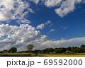 秋のはじまり【稲と積乱雲】 69592000