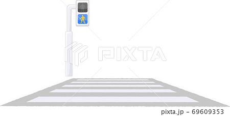 青信号の横断歩道 69609353