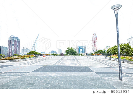 【お台場】シンボルプロムナード公園【色鉛筆】 69612954