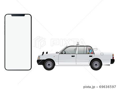 スマートフォンとタクシー 69636597