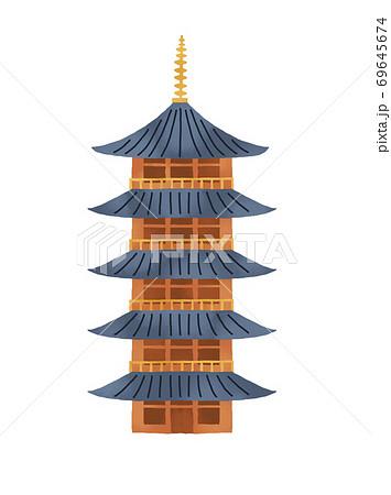 京都の五重塔のイラスト 69645674
