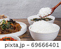 Delicious Korean food, a collection of various Korean dishes 303 69666401
