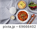 Delicious Korean food, a collection of various Korean dishes 309 69666402